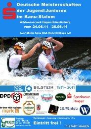 Deutsche Meisterschaft Jug/Jun im Kanuslalom 130. B-RL, Finale ...