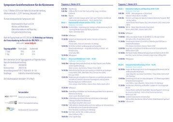 Symposium Geoinformationen für die Küstenzone - Geomatik an der ...