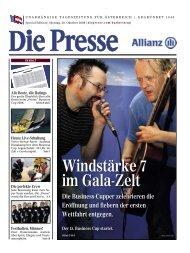 Windstärke 7 im Gala-Zelt