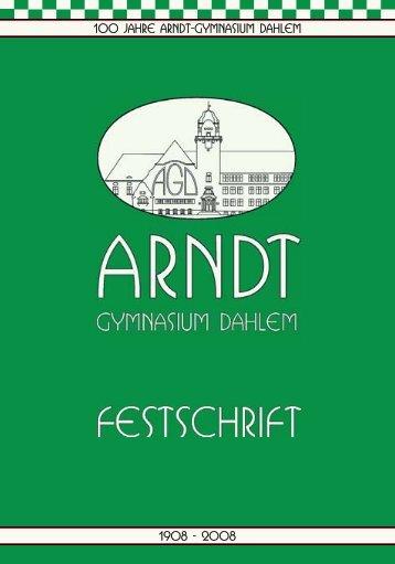 Festschrift-Auszug - Arndt-Gymnasium Dahlem