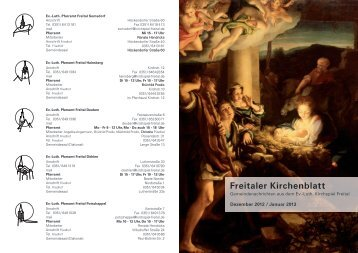 Freitaler Kirchenblatt - Ev. Kirchspiel Freital