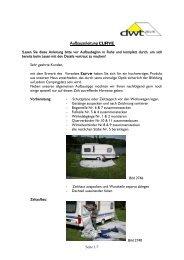 Aufbauanleitung CURVE - dwt-Zelte