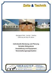 Zelt und Technik 3 - Oberaigner Partyzelt und Catering GmbH