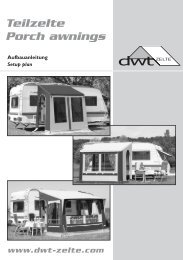 Teilzelte Porch awnings - dwt-Zelte