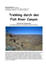 Unser Reisetermin: 28.05.-09.06. 2009 - REISEZEIT Tourismus GmbH