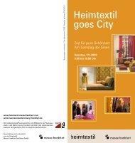 Heimtextil goes City - Raumausstatterinnung Frankfurt