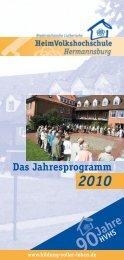Das Jahresprogramm 2010 90 Jahre HVHS - Heimvolkshochschule ...