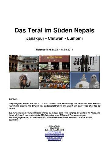 Das Terai im Süden Nepals Janakpur - Chitwan - Reiseberichte ...
