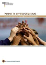 Partner im Bevölkerungsschutz - des Bundesministerium des Innern