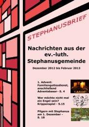 Nachrichten aus der ev.-luth. Stephanusgemeinde