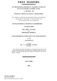 Free Masonry - The Masonic Trowel