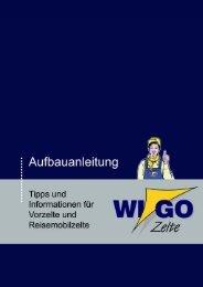Aufbauanleitung - Tipps und Informationen für Vorzelte ... - Wigo Zelte