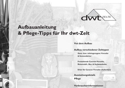 Aufbau - dwt-Zelte
