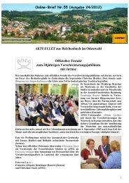 Online Brief Nr. 55 (Ausgabe 24 / 2012) - Verschönerungsverein ...