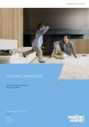Heizungs-sanierung - Walter Meier