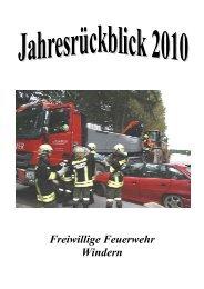 Die Jugendgruppe 2010 - FF Windern