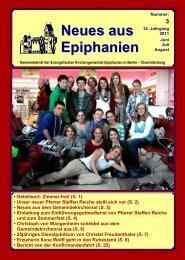 Neues aus Epiphanien