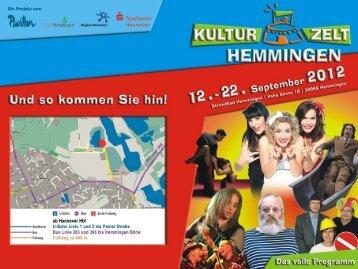 Kulturzelt Hemmingen - Pavillon