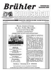 Brühler Amtsblatt der Gemeinde Brühl - Nussbaum Medien