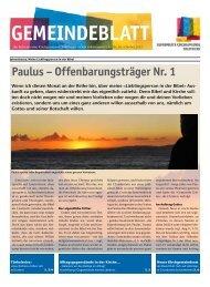 Gemeindeblatt - Reformierten Kirchgemeinde Solothurn