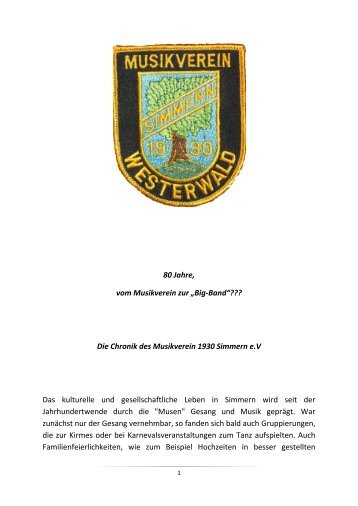 Chronik des Musikverein 1930 - mv-simmern-ww.de