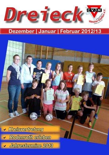 Januar | Februar 2012/13 - CVJM-Kreisverband Wetzlar/Gießen eV