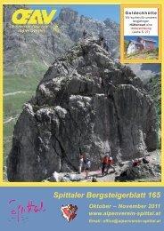 Spittaler Bergsteigerblatt 165 - Alpenverein Spittal/Drau