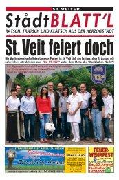 ST. VEITER St °adtBLATT'L - Zentrum Kärnten in Wort und Bild