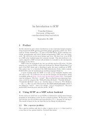 An Introduction to SCIP - SCIP - ZIB