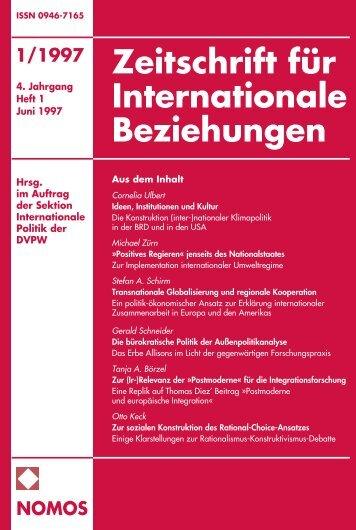 1/1997 nomos - Zeitschrift für Internationale Beziehungen (ZIB ...