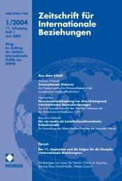 1/2004 - Zeitschrift für Internationale Beziehungen (ZIB) - Nomos