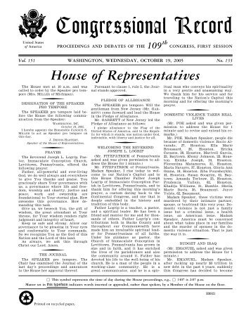 House of Representatives - U.S. Government Printing Office