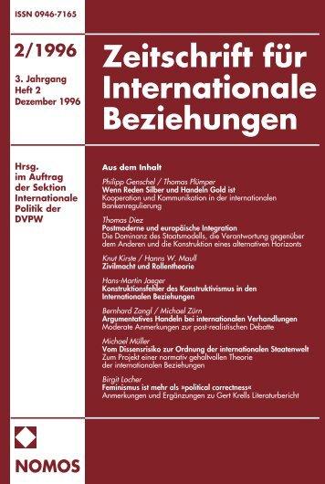 2/1996 nomos - Zeitschrift für Internationale Beziehungen (ZIB ...