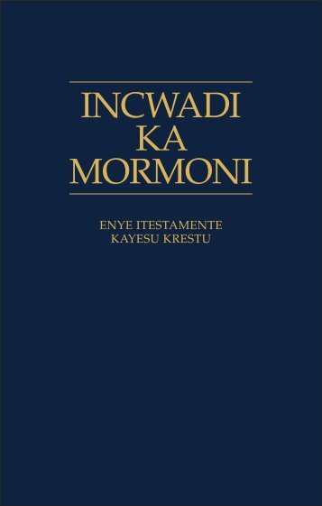 incwadi ka mormoni - The Church of Jesus Christ of Latter-day Saints