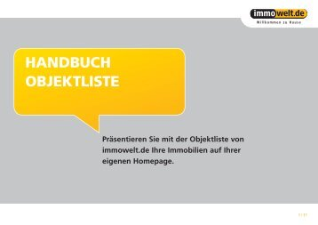 Meine Objektlisten - Immowelt.de