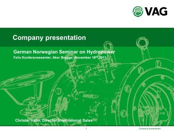 Company Presentation – German Norwegian Seminar On Hydropower