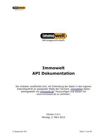 Immowelt API Dokumentation