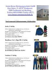Arbeitsschutz Jacke 2- farbig - Armin Breuer Reinigungstechnik GmbH