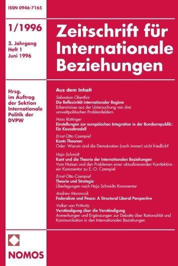 1/1996 nomos - Zeitschrift für Internationale Beziehungen (ZIB ...