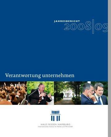 Jahresbericht 2008/2009 - haus rissen hamburg