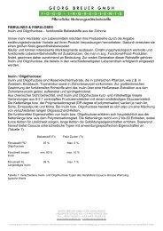 Inulin und Oligofructose als funktioneller Ballaststoff in Lebensmitteln
