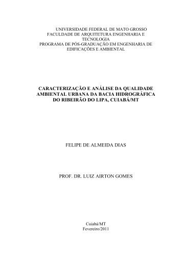 caracterização e análise da qualidade ambiental urbana ... - Index of