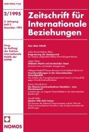2/1995 nomos - Zeitschrift für Internationale Beziehungen (ZIB ...