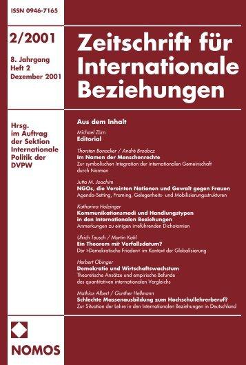 2/2001 nomos - Zeitschrift für Internationale Beziehungen (ZIB ...