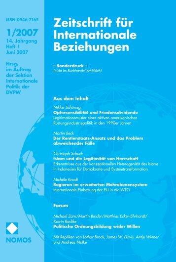 1/2007 - Zeitschrift für Internationale Beziehungen (ZIB) - Nomos