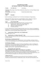 Protokoll Runder Tisch 14.12.04 - Agenda-wuerselen.de