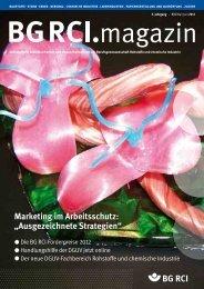 marketing im Arbeitsschutz - Berufsgenossenschaft Rohstoffe und ...