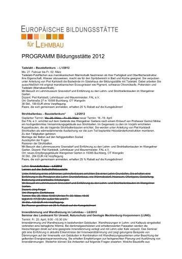 Lehrgang L1 - LehmBauWerk Berlin, Lehmputz ...