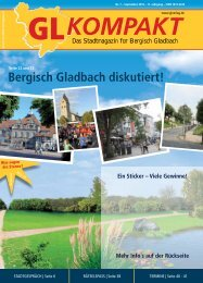 Bergisch Gladbach diskutiert! GLKOMPAKT - GL VERLAGS GmbH