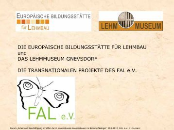 """Leonardo da Vinci Mobilitätsprojekt """"Lehmbau mobil"""" - LASA ..."""